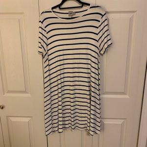ASOS striped t shirt dress